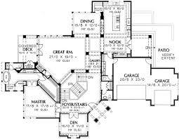 hillside floor plans spacious hillside craftsman home plan 69274am architectural