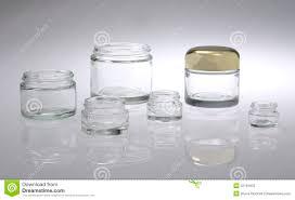 six cosmetic jars stock photos image 32181603