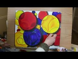 abstract painting technique intro to primary colors and basic