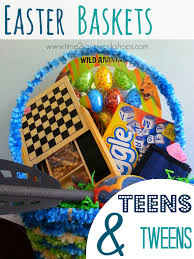 filled easter baskets boys easter baskets for tweens 6 frugal ideas kasey trenum