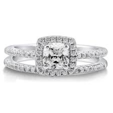 antique engagement ring settings engagement rings 2 ct t w diamond trio matching wedding ring set