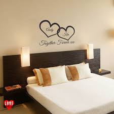 popular wall stickers couples buy cheap wall stickers couples lots w147 together forever xxx entwined love hearts personalised wall art vinyl couple wall sticker for bedroom
