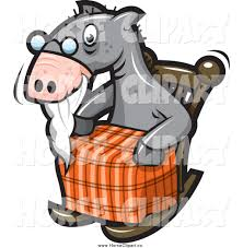 clip art of a old horse sitting in a rocking chair by jtoons 1103