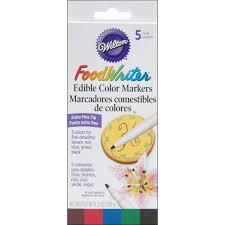 black edible marker wilton food writer tip edible color marker decorating set