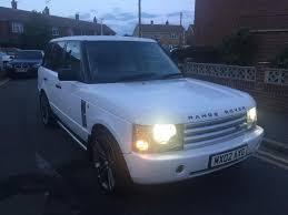 white range rover rims 2002 range rover vogue td6 diesel white 22 u0026quot khan rims sat