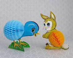 Vintage Easter Decorations Pinterest by Vintage Easter Bunny Honeycomb Table Decoration Vintage