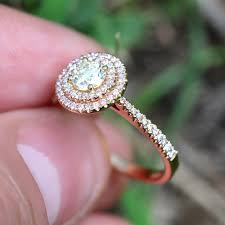 circle engagement ring fancy yellow halo engagement ring pink accents 18k
