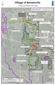 Illinois Toll Map by Comprehensive Bike Plan Bensenville Il Official Website