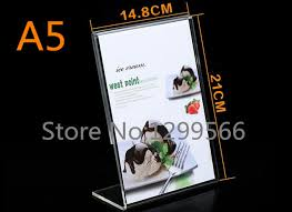 pr駸entoir bureau l forme a5 épaissie acrylique pricetag publicité affiche présentoir