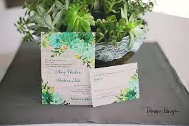 Succulent Wedding Invitations Post Photographer In Boise