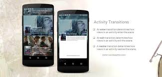 android activity android animated cards using activity transition