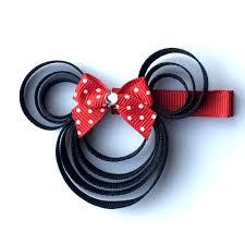 minnie mouse hair bow minnie mouse hair clip disney hair bow fe gift best seller