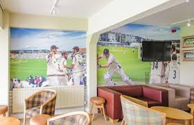 case study scarborough cricket club pictowall co uk custom cricket themed wallpaper mural