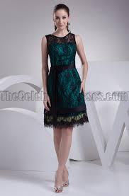 knee length black lace cocktail party graduation dresses