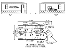 custom cottages inc mobile shelter design for ice fishing floor plan