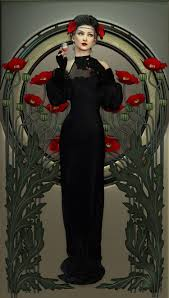 5 contemporary illustrators paying homage to art nouveau the atelier sommerland illustration of a lady and red poppies