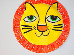lion mask craft diy paper lion mask handmade