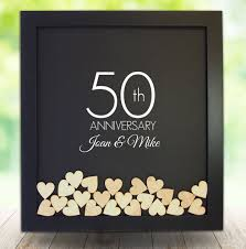 50 anniversary gifts 50th anniversary gifts frame guest book 25th wedding gift
