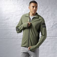 Track Canopy by Reebok Discount Reebok One Series Track Jacket With Canopy Green