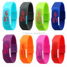 led rubber bracelet images New arrival fashion sport led watches candy color silicone rubber jpg