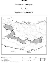 Molokai Map Federal Register Endangered And Threatened Wildlife And Plants