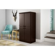 south shore storage cabinet south shore morgan chocolate storage cabinet 10073 the home depot