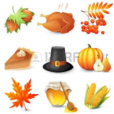a set of thanksgiving icons royalty free cliparts vectors and