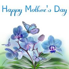 happy mothers day on flowers card a letreros