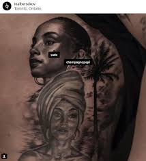 chi drake gets another tattoo of sade lipstick alley