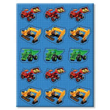 monster truck stickers 4 sheets