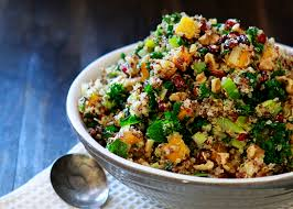 quinoa with butternut squash dried cranberries and kale