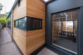 photographing architect designed eco pods in exeter