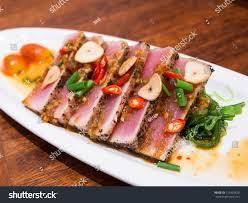 japanese fusion cuisine spicy tuna japanese fusion cuisine stock photo 153403820