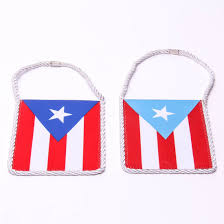 Car Flag Embroidered Mirror Flag Puerto Rican Pride