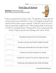 sequence worksheet 6 worksheets language and adverbs