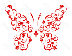 best silhouette flower with butterfly designs vector file free