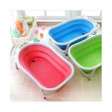 travel bathtub baby features full size bath tub with removable plug space saving flat