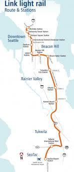 light rail map seattle seattle downtown metro map mapsof