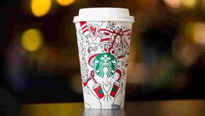 starbucks cup comes with a message give