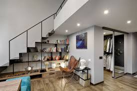 how to build stairs in a small space mezzanine level bedroom adds extra space to small kiev apartment