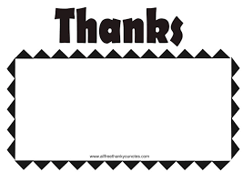 all free black and white thank you notes and thank you cards