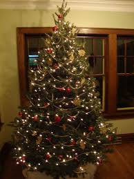 christmas decoratedristmas trees in black and gold silver red