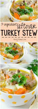 3 ingredient leftover turkey stew