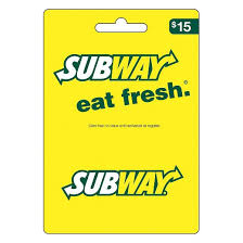 15 gift cards subway 15 gift card target