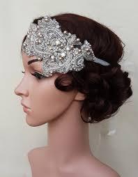 wedding headband deco headband 20s wedding 20s inspired bridal forehead band