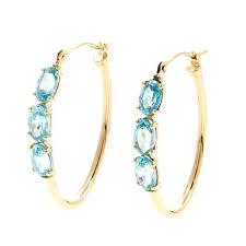 yellow gold earrings 14k yellow gold 3 hoop earrings 8519894 hsn