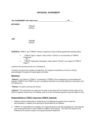 referral fee agreement legalforms org