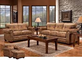 western theme decorations for home decorating wild horse sofa set with rectangle brown wood coffee