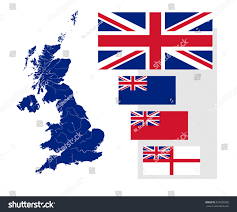 map united kingdom rivers four british stock vector 327695285