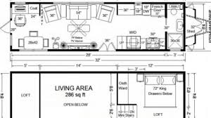 Cottage Floor Plans With Loft by Tiny House On Wheels Floor Plans Blueprint For Tiny House Floor